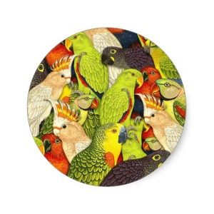 whimsical_nature_green_parrots_birds_pattern_sticker-rf0035cc0731248bc8eeb5240fc949222_v9waf_8byvr_512