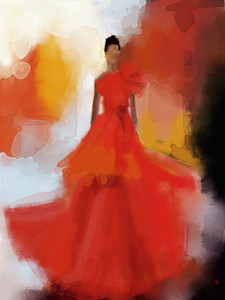 ny_fashion_week_spring_2012_Christian_Siriano_red_dress_Beverly_Brown-S