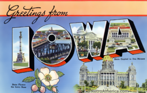 Iowa Postcard Image