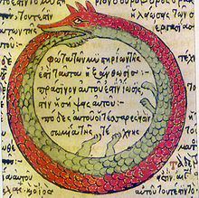 Drawing by Theodoros Pelecanos, in a 1478 copy[1] of a lost alchemical tract by Synesius.