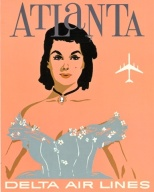Delta Airlines vintage advertisement