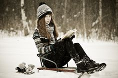 reading in snow