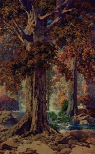 Autumn Woods, Maxfield Parrish